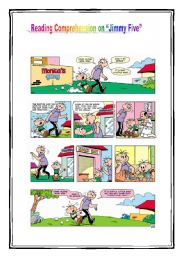 English Worksheet: Reading Comprehension on comic strip