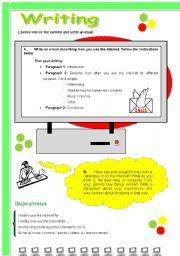Writing & Speaking: Internet ( 3 )