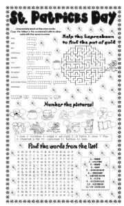 English Worksheets: st. patrick`s day (4 different activities)