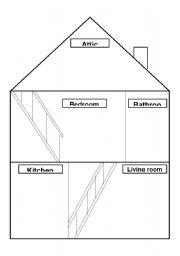 English Worksheet Draw Your House