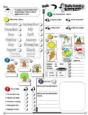 English Worksheet: Vocab Focus Series_08 Months & Seasons (Fully Editable + Key)