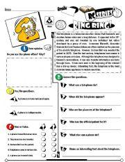 English Worksheets: RC Series Level 01_43 Ring Ring (Fully Editable + Key)