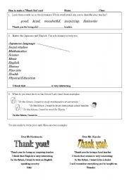 English Worksheets: How to make a thank you card for a teacher