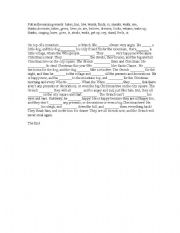 English Worksheet: Grinch - missing words
