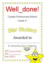 student certificate esl worksheet by wally104