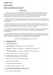 English Worksheets: Exams of the Unit Communication and the Press