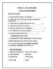 English Worksheets: e.v.s worksheet