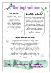 English Worksheet: Wedding traditions 3