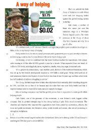 Fair trade - a way of helping (environment) B1