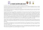 English worksheet: an Easter tale