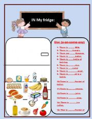 English Worksheet: IN MY FRIDGE