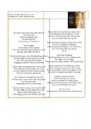 English Worksheets: Taylor Swift song