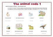 English Worksheets: THE ANIMAL CODE 1