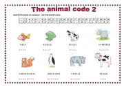 English Worksheets: THE ANIMAL CODE 2