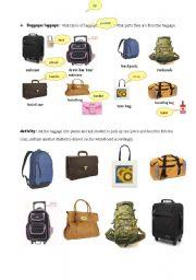 English Worksheets: baggage/luggage