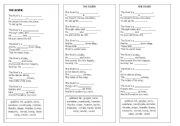 English Worksheet: The River Poem Exercise