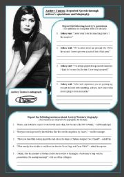 Audrey Tautou: Reported Speech through actress's quotations and biography