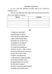 English Worksheet: POEM ABOUT HEALTH