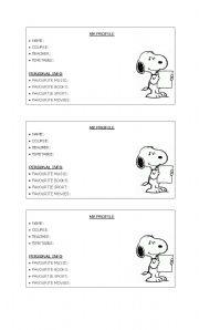 English Worksheets: My English Profile