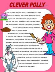 English Worksheets: Clever Polly