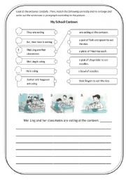English Worksheets: canteen