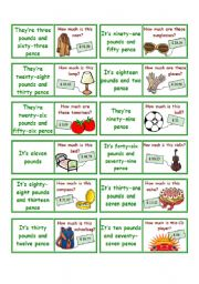 English Worksheets: Prices (dominoes)