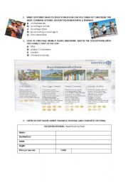 make vacation reservation (hotel)