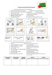 English Worksheet: Commands in the classroom
