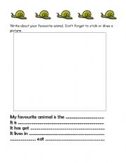English Worksheets: My favourite animal