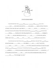 English Worksheet: Frosty the Snowman madlib