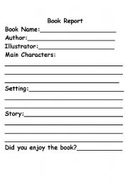 simple book report