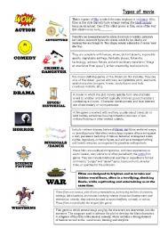 English worksheet: Types of movie