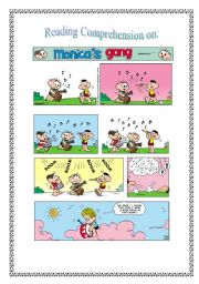 Comic strip : Monica´s gang and musical instruments