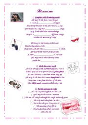 English Worksheet: Women´s Day - song