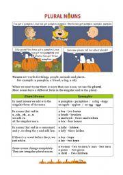 English Worksheets: Grammar - Plural nouns