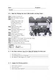 English Worksheets: Teste Personal Identification
