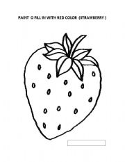 English Worksheet: coloring pictures to kinder students