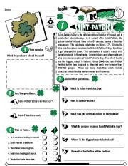 English Worksheet: RC Series_Level 01_Irish Edition_01 Saint-Patrick´s Day (Fully Editable + Key)