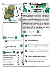 English Worksheet: RC Series_Level 01_Irish Edition_01 Saint-Patrick´s Day (Fully Editable + Key)