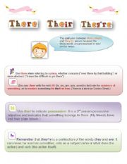 English Worksheets: There, their, they�re