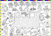 English Worksheets: toys wordsearch