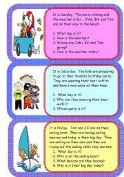 English Worksheets: mini comprehensions