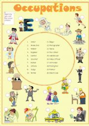 English Worksheets: Occupations (2 p. exercise & B&W) (Re-uploaded)