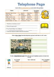 English Worksheets: Telephone page
