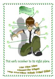 English Worksheets: Ben10�s body