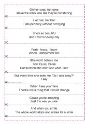 English Worksheets: Bruno Mars - Just the way you are