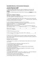 English Worksheet: The Devil Wears Prada Listening Exercises