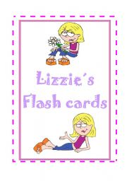 English Worksheets: LIZZIE�S FLASH CARDS