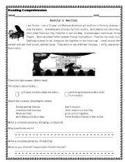 English Worksheets: Rosita´s Recital