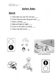 English Worksheets: Safety Rules